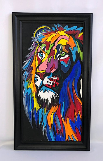 """Colorful Lion Head"""