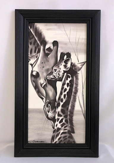 """Mother and Child Giraffe"""