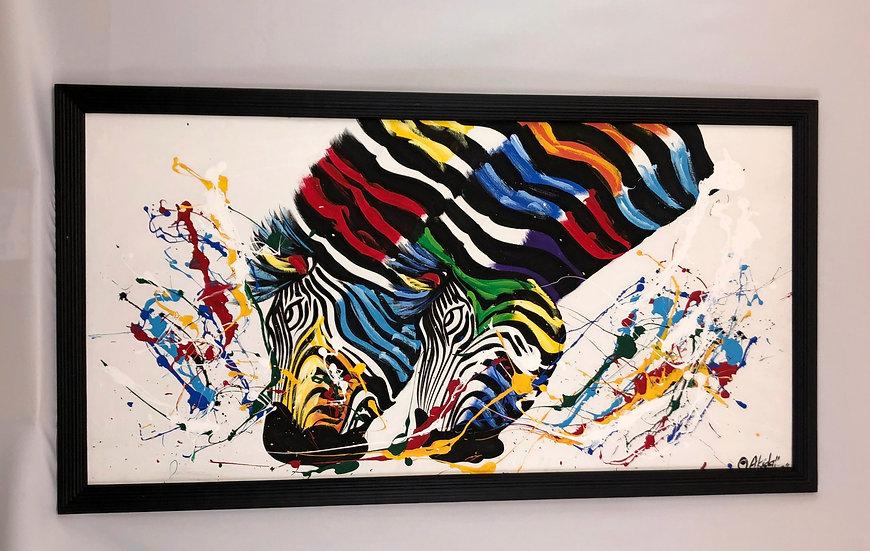 """Colorful Zebra Lovers"""