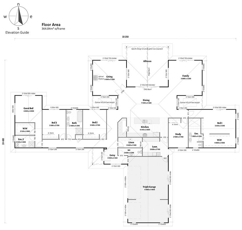 4 bedroom plus study house plan