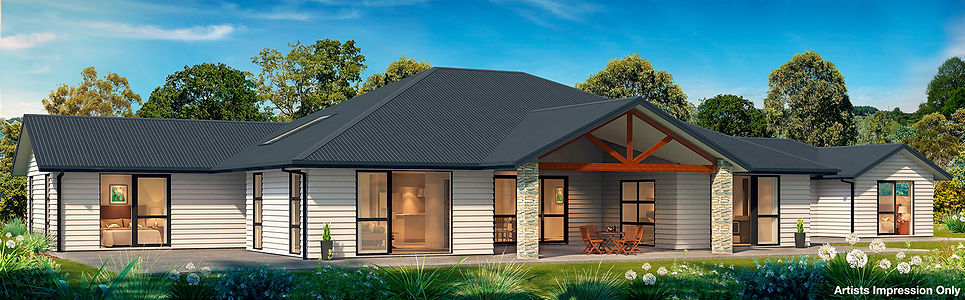 4 Bedroom house white weatherboard gable