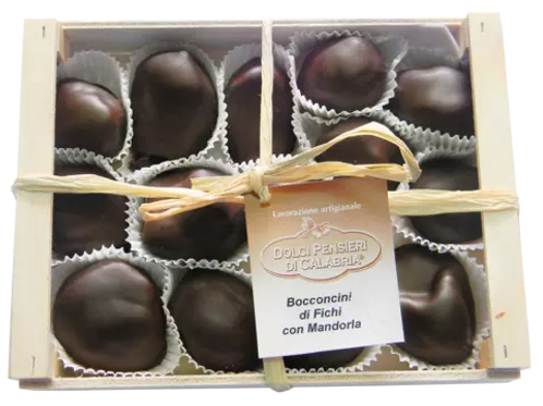 Feigen in Zartbitterschokolade BOCCONCINI DI FICHI