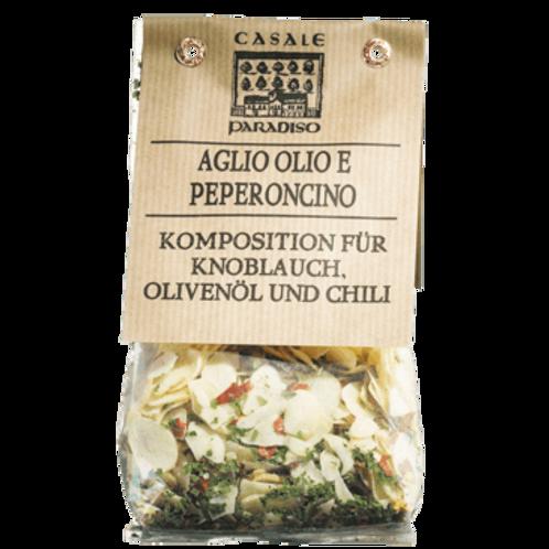 GEWÜRZMISCHUNG für Pasta Knoblauch, Olivenöl und Chilli
