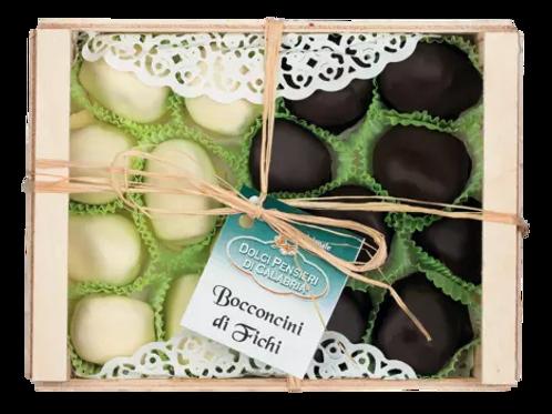 Feigen in weißer-/Zartbitterschokolade BIANCI E NERI