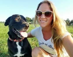 Dog hiking Pikesville