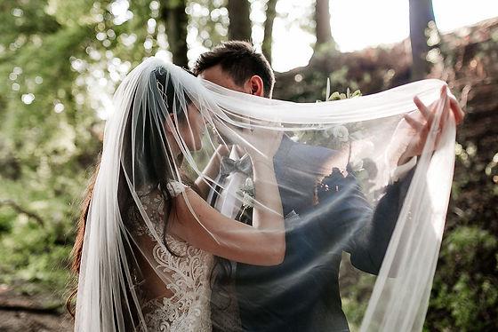 Schleier Brautpaar Hochzeit Boho