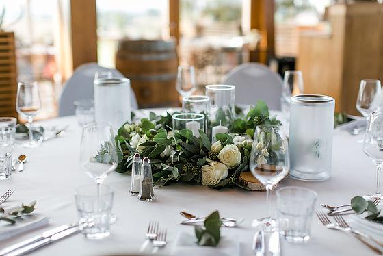 Tischdekoration Hochzeit Eukalyptus