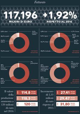 Bilancio sociale Coopselios 2017 / infografica di sintesi