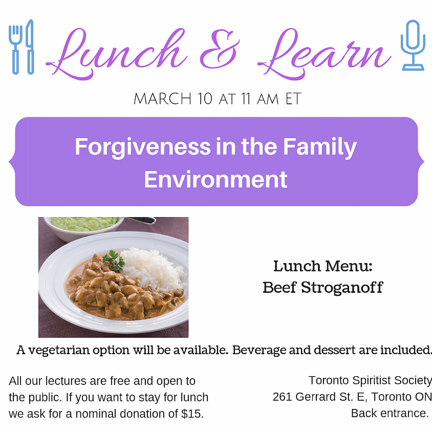 Public Lecture :: Forgiveness in the Family Environment + Lunch & Learn