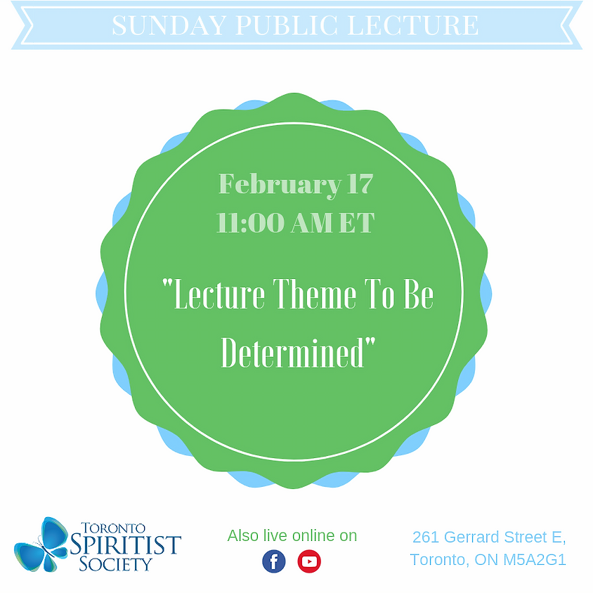 Public Lecture :: Theme to be Determined