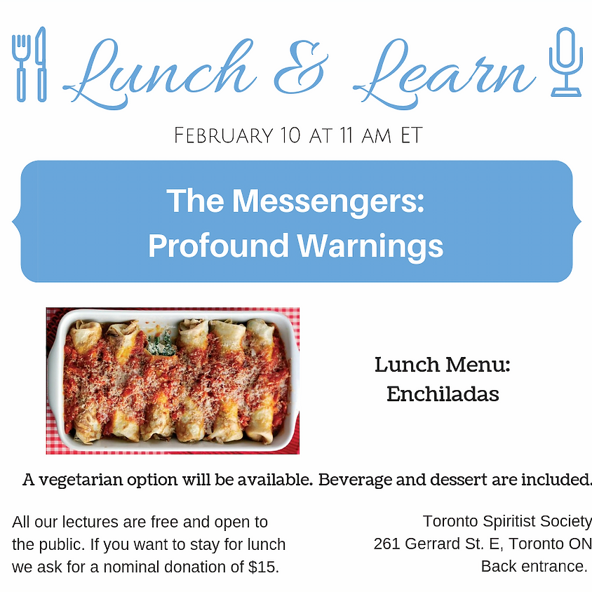 Public Lecture :: The Messengers: Profound Warnings + Lunch & Learn
