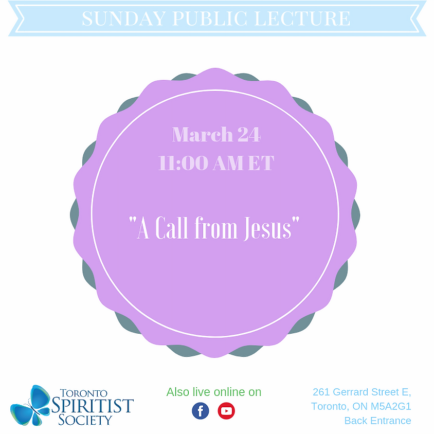 Public Lecture :: A Call from Jesus