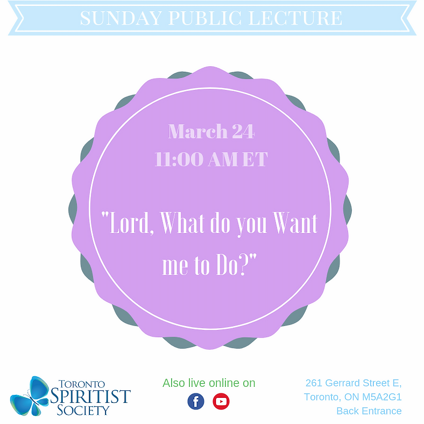 Public Lecture :: Lord, What do you Want me to Do?