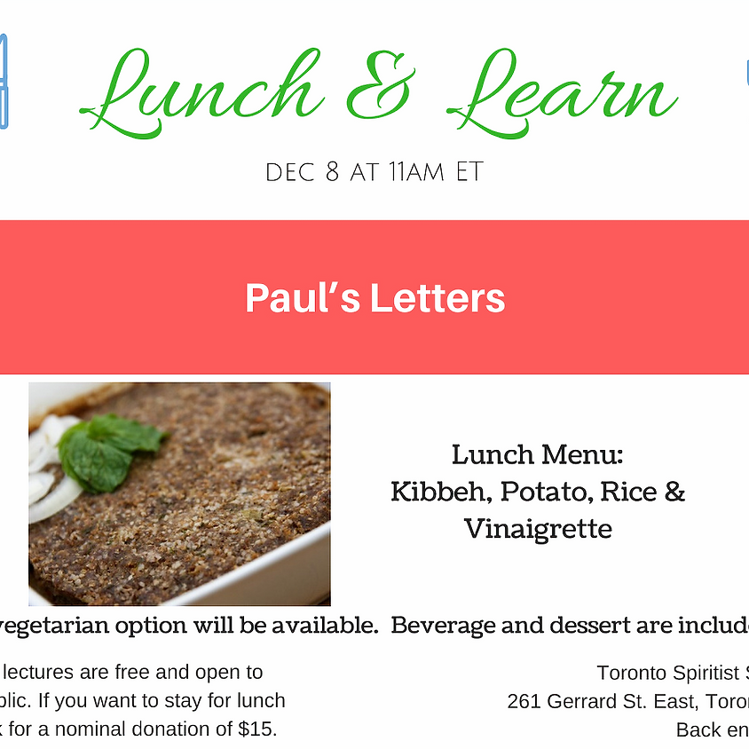 Public Lecture + Lunch and Learn