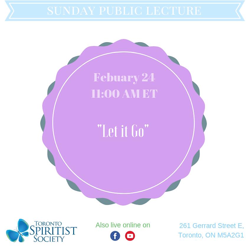 Public Lecture :: Let it Go