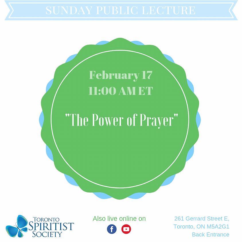 Public Lecture :: The Power of Prayer