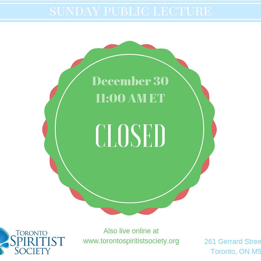 Year End Break - Closed on Dec 30