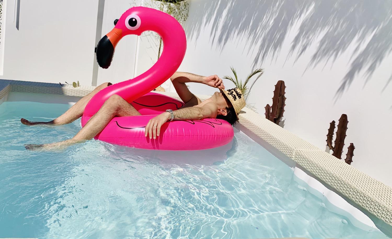 bain de minuit romantique suite piscine