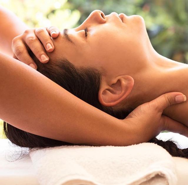 Massage sur votre terrasse privée