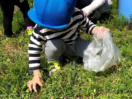 【2歳児さん】春を見つけに ~つくし摘みとアマガエルさん~