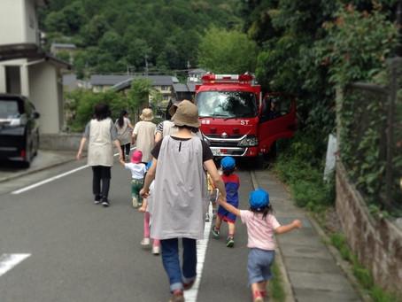消防車が来てくれました