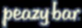 peazy bar, allergy free, plant based protein bar logo