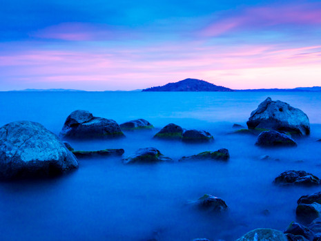 Sunset on Lake Titicaca