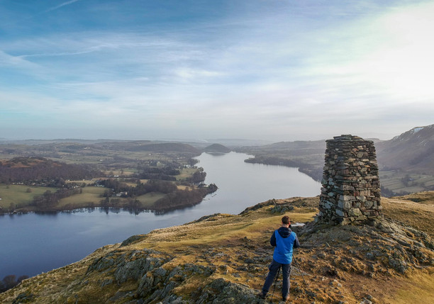 Looking down onto Ullswater from Hallin Fell