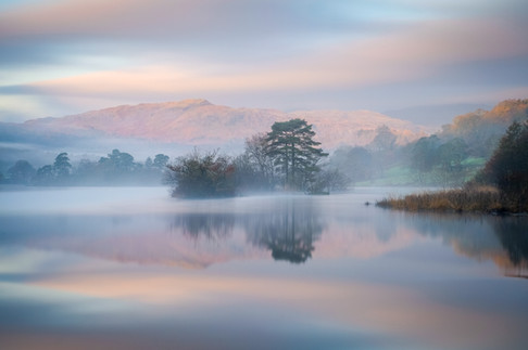 Misty Sunrise on Rydal Water