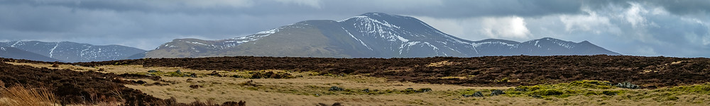 A panoramic view of Skiddaw from the summit of Binsey Fell
