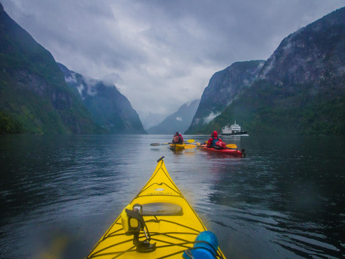 Kayaking in the Norwegian Fjords