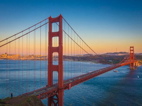 Sunset at the Golden Gate Bridge