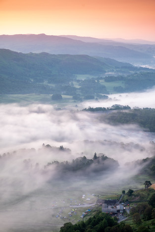 A beautiful misty morning in the Lake District