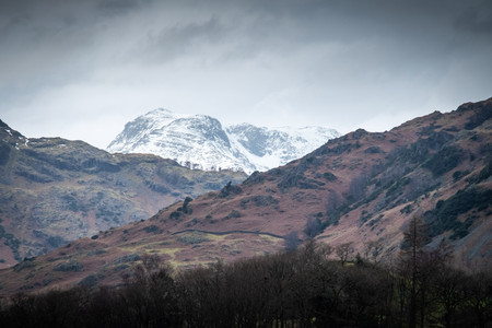 Snow on the Langdales