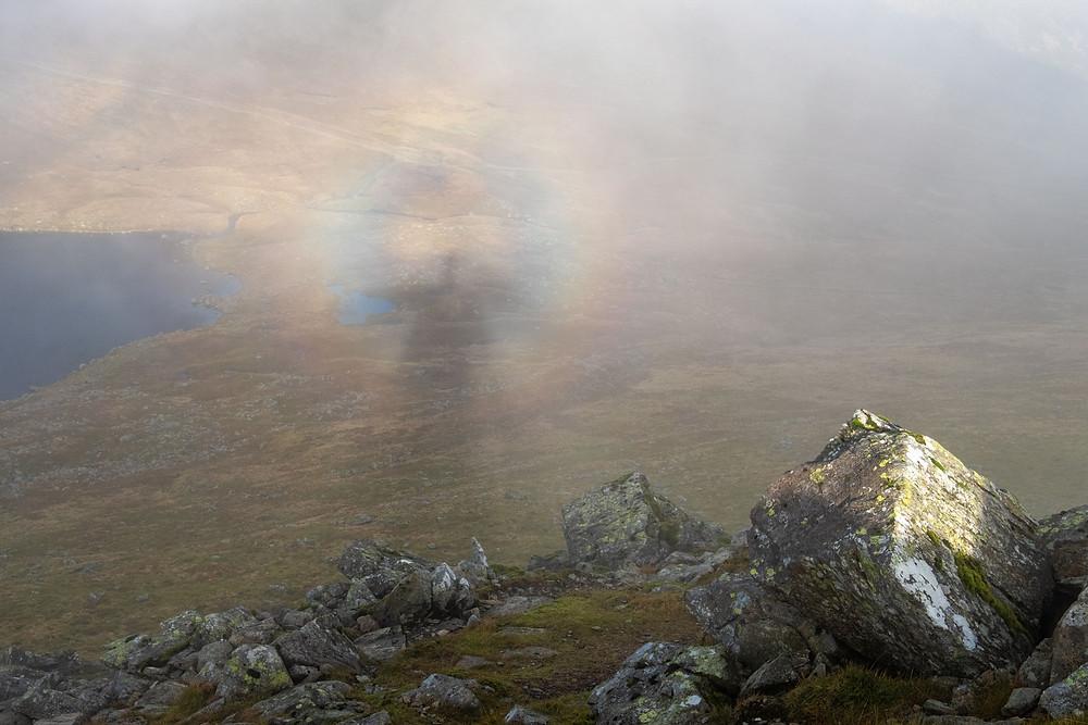 A Brocken Spectre as I climb Helvellyn