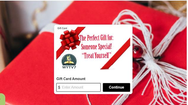 WYTV7 sample gift card