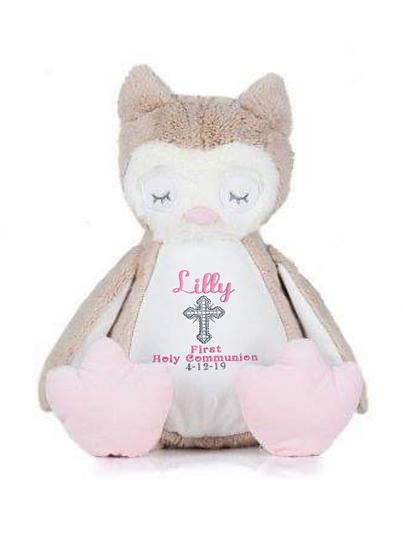 Owl Personalised Christening / Baptism Soft Toy