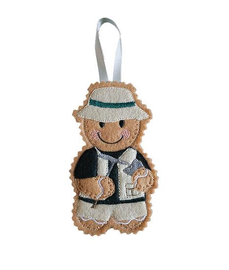 Geologist Gingerbread Decoration