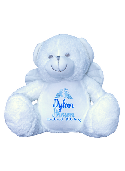 Bereavement Angel Bear / Personalised Keepsake Memory Bear Soft Toy