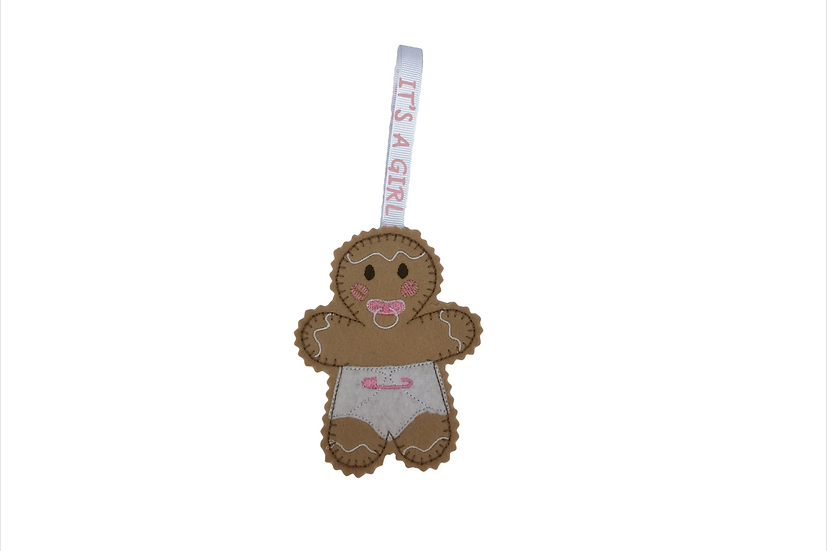 Baby Girl Gingerbread Decoration