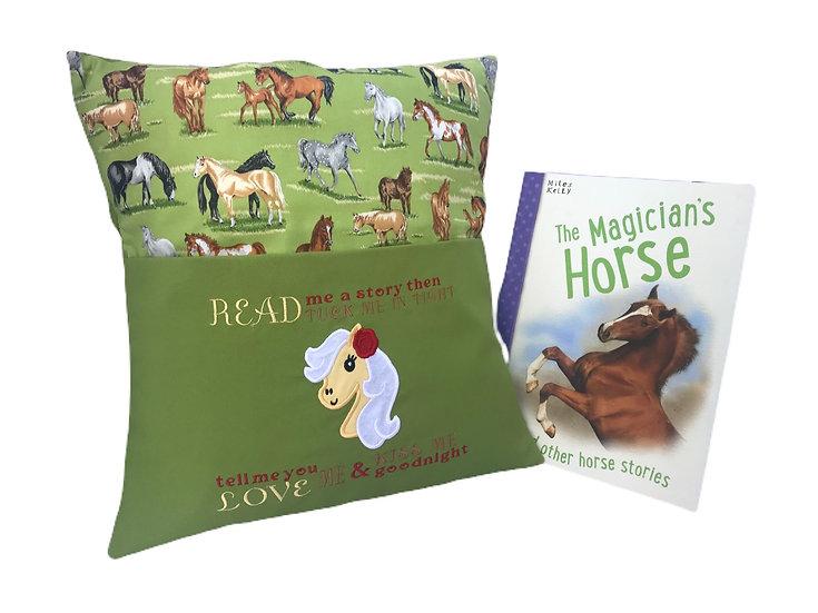 Horse Themed Book Cushion