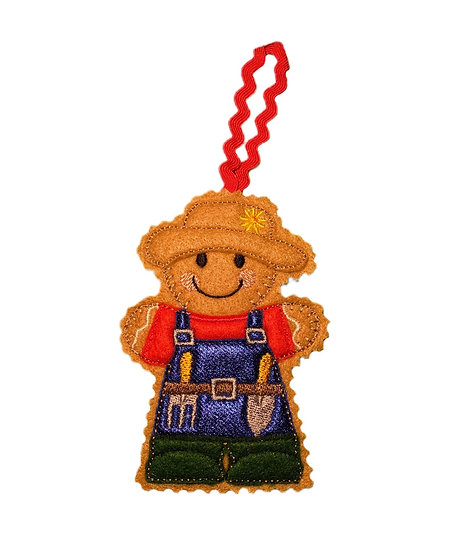 Gardener Gingerbread Decoration