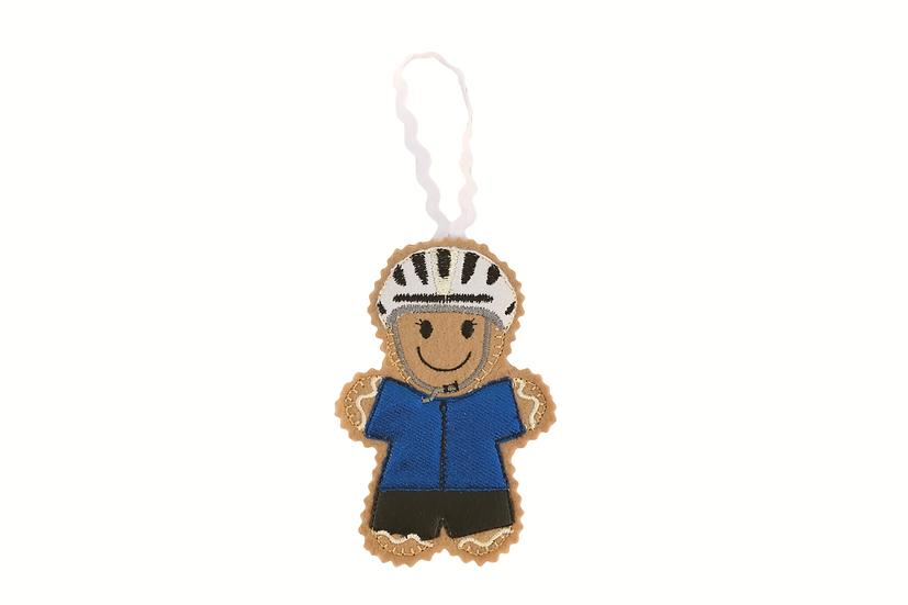 Cyclist Gingerbread Decoration