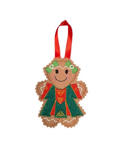 Lady Irish Gingerbread Decoration