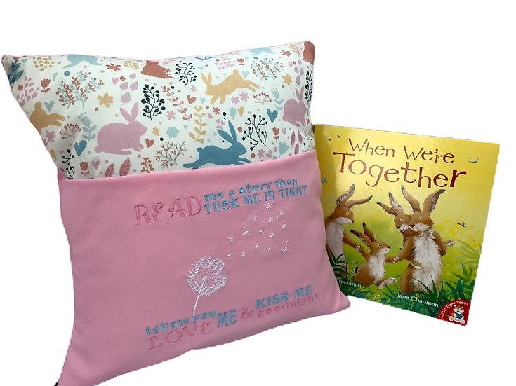 Bunny Rabbit Themed Book Cushion