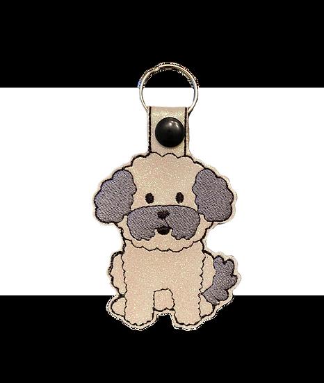 Bichon Frise / Maltipoo  Dog Key Ring