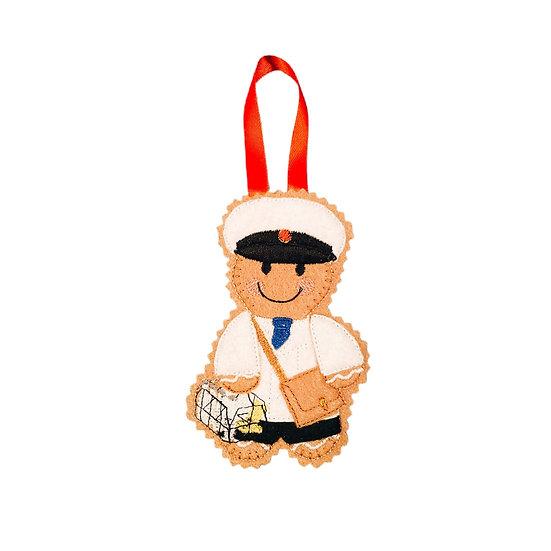 Milkman Gingerbread Decoration