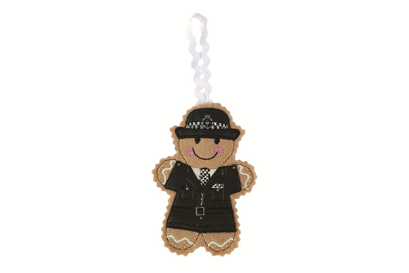 Police Woman Gingerbread Decoration