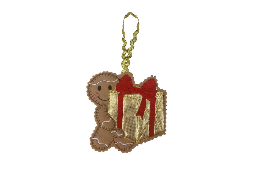 Present carrying Gingerbread Decoration Christmas / Birthday