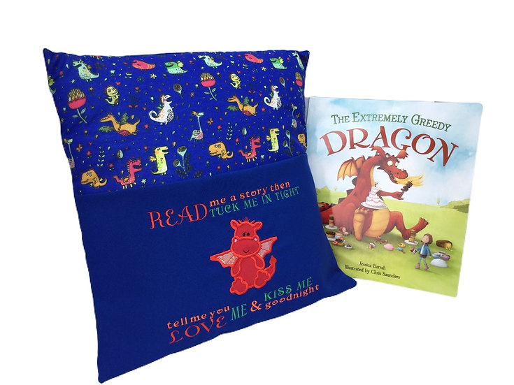 Red Dragon Themed Reading Book Cushion